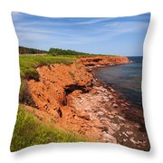 Prince Edward Island Coastline Throw Pillow