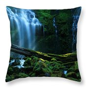 Proxy Falls Oregon Throw Pillow