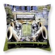Psychedelic Classic Lagonda Throw Pillow