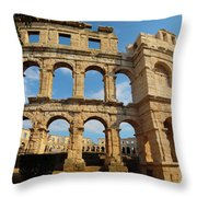 Pula, Istria County, Croatia. The Roman Throw Pillow