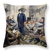 Pullman Car, 1876 Throw Pillow