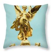 Queen Victoria Memorial In London Throw Pillow