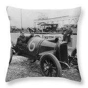 Racecar Drivers, C1913 Throw Pillow