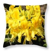 Radiant Yellow Throw Pillow