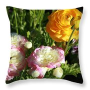 Ranunculus 1 Throw Pillow