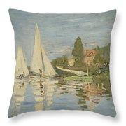 Regattas At Argenteuil Throw Pillow