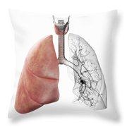 Respiratory System Throw Pillow