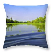Ripples On The Saltwater Lagoon Throw Pillow