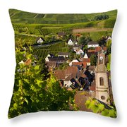 Riquewihr Alsace Throw Pillow by Brian Jannsen