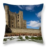 Rochester Castle Throw Pillow