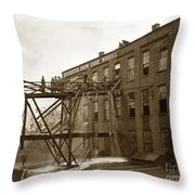 Rochester Show Case Co. Fire New York State Circa 1904 Throw Pillow