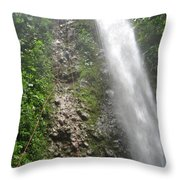 Rock Climbing Rope Climbing Costa Rica Vacations Waterfalls Rivers  Recreation Challanges  Facilitie Throw Pillow