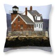 Rockland Breakwater Lighthouse Throw Pillow