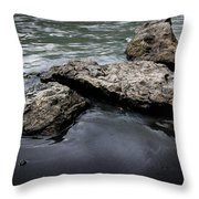 Rocks In The River Throw Pillow