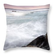 Rocky Coast Kejimkujik Np Nova Scotia Throw Pillow