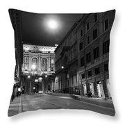 Roma By Night Throw Pillow