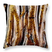 Rough Abstract Ceramic Surface Throw Pillow