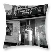 Route 66 - Ann's Chicken Fry House Throw Pillow