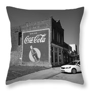 Route 66 - Coca Cola Ghost Mural Throw Pillow