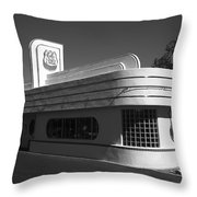 Route 66 Diner Throw Pillow