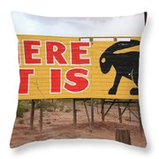 Route 66 - Jack Rabbit Trading Post Throw Pillow