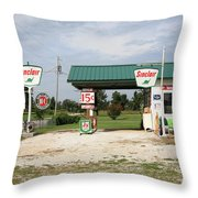 Route 66 - Paris Springs Missouri Throw Pillow