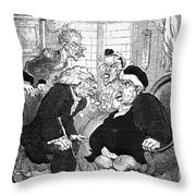 Rowlandson: Quack Doctor Throw Pillow