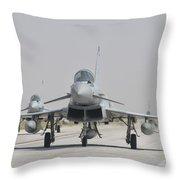 Royal Air Force Ef-2000 Typhoon Throw Pillow