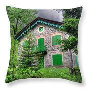 Rustic House Throw Pillow