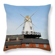 Rye Windmill Throw Pillow