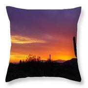Saguaro Sunset Throw Pillow