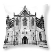 Saint Barbara Church  Throw Pillow