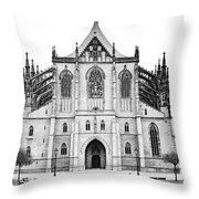 Saint Barbara Church  Throw Pillow