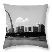 Saint Louis Skyline Throw Pillow