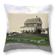 Sakonnet Point In Little Compton Rhode Island Throw Pillow