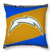 San Diego Chargers Throw Pillow by Joe Hamilton