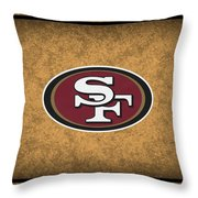 San Francisco 49ers Throw Pillow