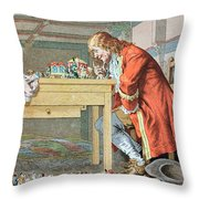 Scene From Gullivers Travels Throw Pillow by Frederic Lix