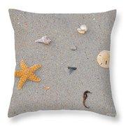 Sea Swag - Natural Throw Pillow