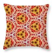 Seamlessly Tiled Kaleidoscopic Mosaic Pattern Throw Pillow