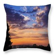September Mountain Sunrise Throw Pillow