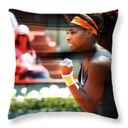 Serena Williams Throw Pillow