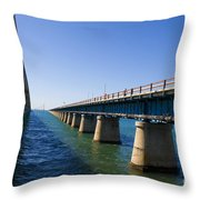 Seven Mile Bridge Florida Keys Throw Pillow