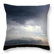 Severe Storm Cells Developing Over South Central Nebraska Throw Pillow