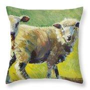 Sheep Painting Throw Pillow