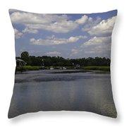 Sweet Balmy Breeze On Shem Creek Throw Pillow