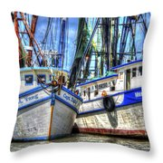 Shrimp Boats Season Throw Pillow