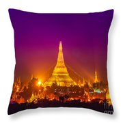 Shwedagon Paya - Yangoon Throw Pillow
