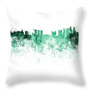 Singapore Skyline In Watercolour On White Background Throw Pillow