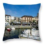 Small Harbor Throw Pillow